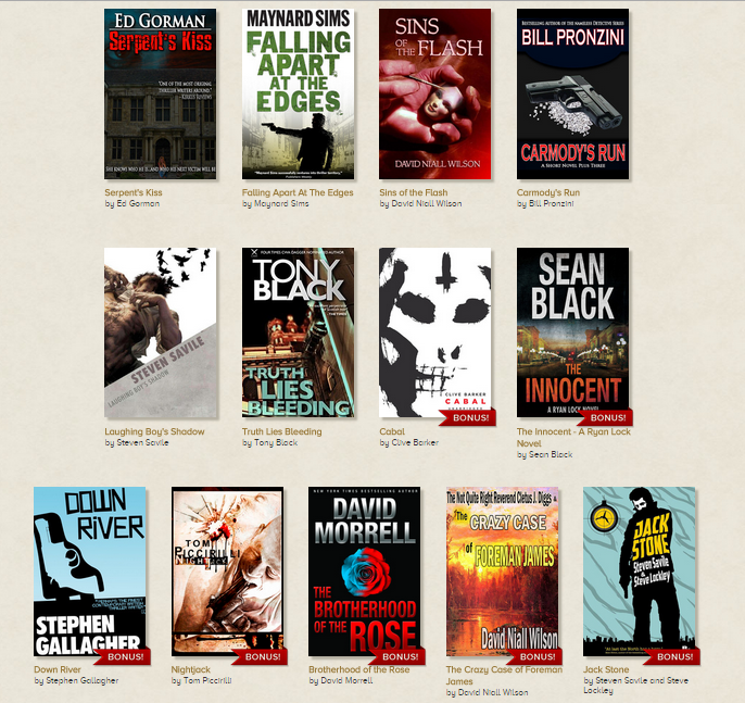 Mean Streets Story Bundle – Barker, Morrell, Piccarilli, Pronzini and More!