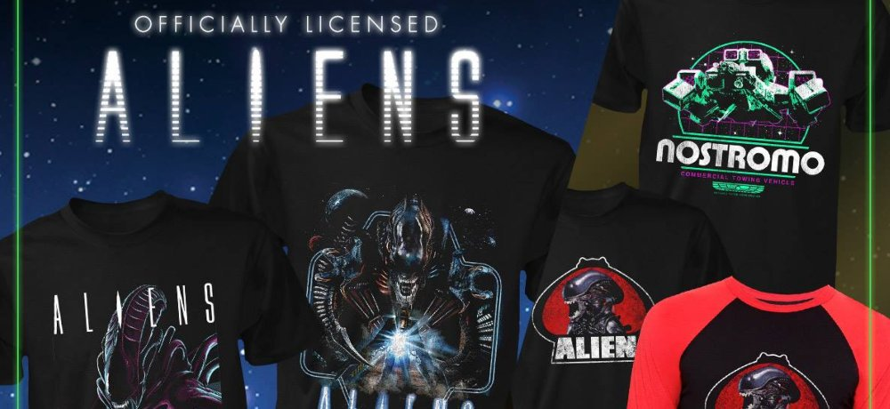 Officially Licensed 'Alien' and 'Aliens' Shirts from Fright Rags Include New Designs & Popular Reprints