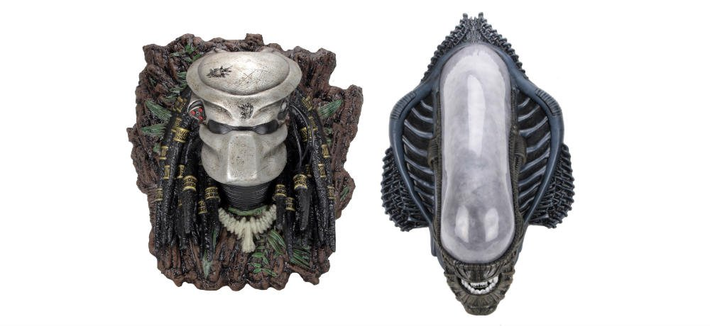 NECA Reveals 'Alien' and 'Predator Foam Replica Wall-Mounted Busts, Coming This November