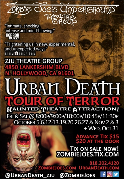 Urban Death Tour of Terror Haunted Theatre Attraction!