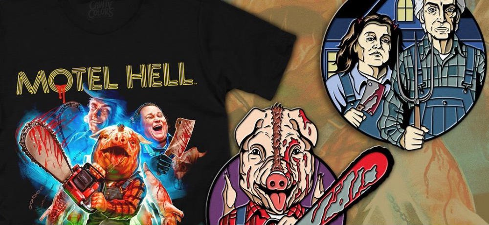 'Motel Hell' Featured in New Shirt & Enamel Pin Collection from Cavitycolors