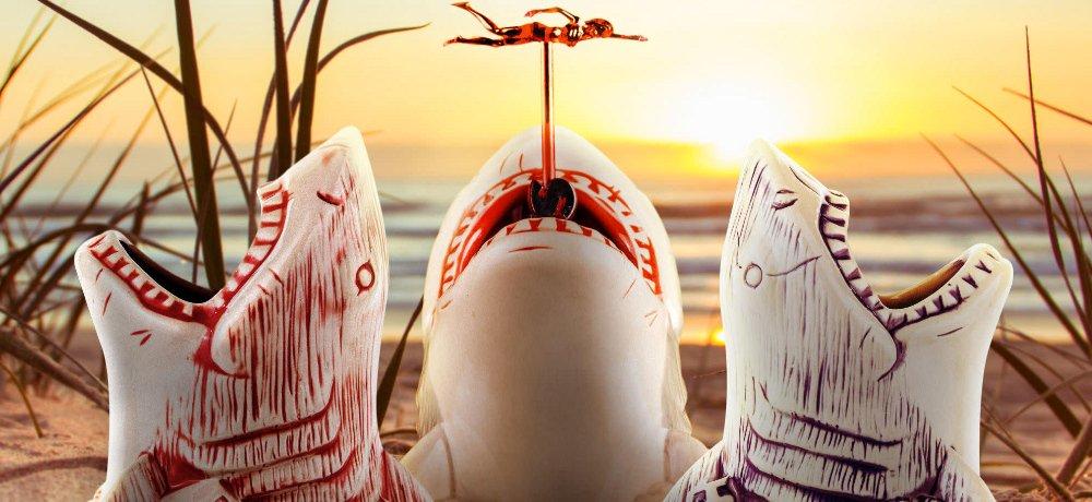 It's Shark Week! Get Mondo's New JAWS Tiki Glasses!
